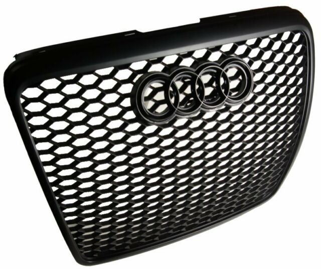 2008 - 2011 FACELIFT AUDi A6 C6 MESH SPORT Grill Grille RS6 Look + BLACK BADGE