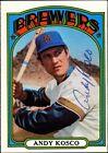 1972 Topps Andy Kosco Milwaukee Brewers #376 Baseball Card