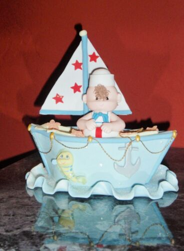 SAILBOAT TOPPER DIAPER CAKE BABY SHOWER BIRTHDAY NAUTICAL CENTERPIECE FAVOR GIFT