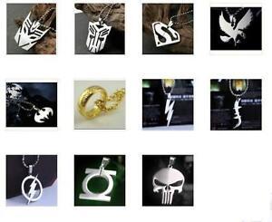 DC-Marvel-Super-Hero-Steel-Chain-Pendant-Necklace-Ring-Batman-The-Flash-Fashion