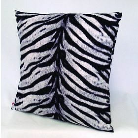 ZEBRA EFFECT ANIMAL PRINT DESIGN CUSHION SOFT FEEL