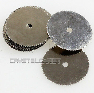 Lot 10 pcs 22mm Steel Wood Saw Disc Wheel Cutting Blades For Rotary Tools