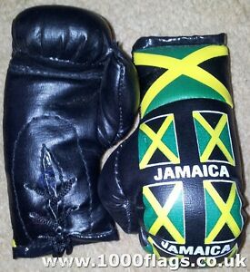 Jamaica-Black-Flag-Mini-Hanging-Boxing-Boxer-Gloves-Ideal-for-the-Car