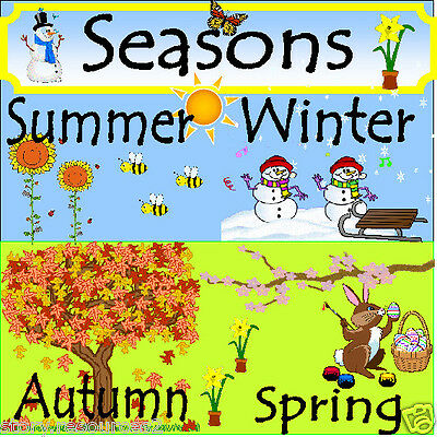 4 SEASONS  Primary teaching resources topic KS1 EYFS Winter Spring Summer Autumn