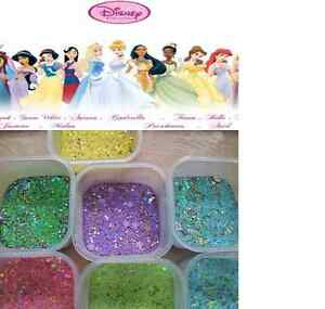 Disney-Princess-Acrylic-glitter-mix-nail-art-mylar-fimo-spangles-UK-SELLER