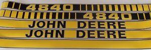 New-Aftermarket-JD4840-John-Deere-Tractor-Hood-Decal-Set
