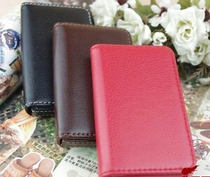 Genuine-Leather-Business-Name-Credit-ID-Card-Holder-Wallet-Case-New
