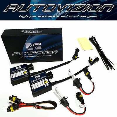 9006 10000K HID XENON LIGHT BULB+BALLAST CONVERSION KIT 8k light blue hid bright