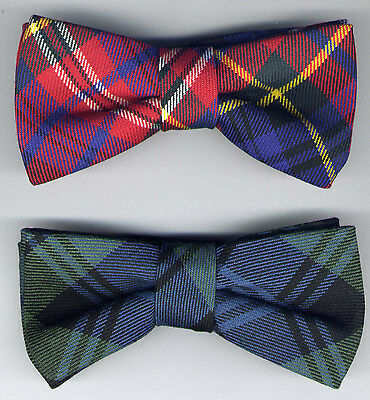 Tartan Bow Ties Various Designs UK Manufactured