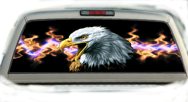 Eagle #11 Rear Window Vehicle Graphic Tint Truck Stickers Decals