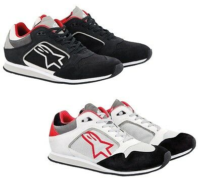 Alpinestars Classic Lightweight Urban Commuting Motorcycle Shoes White/Red 12.5