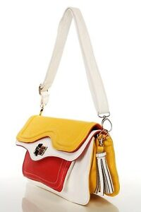 COLOUR-BLOCK-LADIES-WOMEN-FLAP-SHOULDER-BAG-SATCHEL-HANDBAG-HOBO-CLUTCH-EVENING