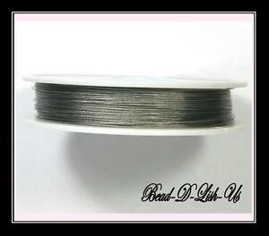 1 Roll x 100m Roll 0.45mm SILVER TIGER TAIL WIRE Beading Wire Cord jewellery