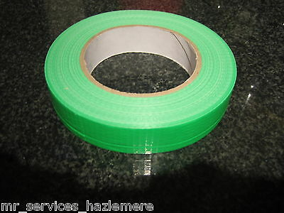 GREEN GAFFA CLOTH DUCK TAPE 25mm x 25M VERY STRONG X 1 + FREE UK POSTAGE..