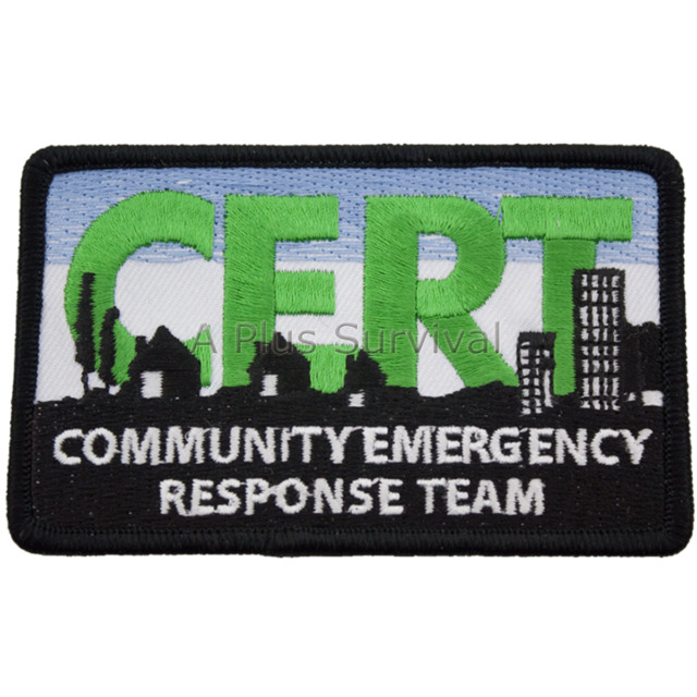CERT Logo Patch - Sew on your Favorite C.E.R.T. Product