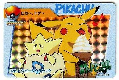 POKEMON BANDAI 1998 POCKET MONSTERS HOLO N° 126 TOGEPI PIKACHU ICECREAM