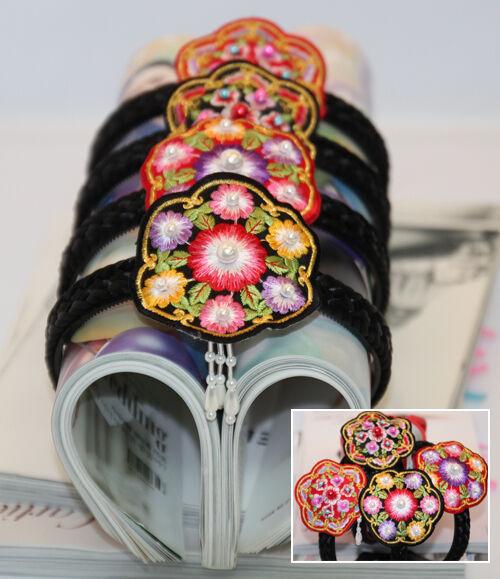 HANBOK Embroider Baesi Band Daenggi pigtail hairband Korean traditional acc-01