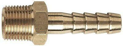 1/4 Bsp X 3/16 = 5 mm  Brass Hose tail Barb x 1 Barbed tail