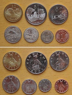ZIMBABWE coins set of 7 pieces AU-UNC