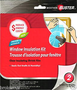 Insulation kit 2 window 3 39 x5 39 clear shrink film seal stop for Window insulation rating