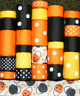 GROSGRAIN RIBBON LOT HALLOWEEN TREAT BAGS 25YDS L48 *FREE US SHIPPING*