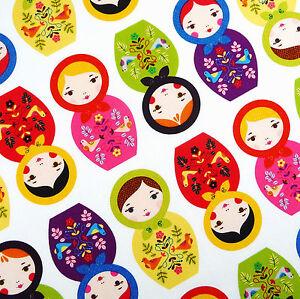 Robert-Kaufman-Little-Kukla-Russian-doll-fabric-bright-Christmas-folk-retro