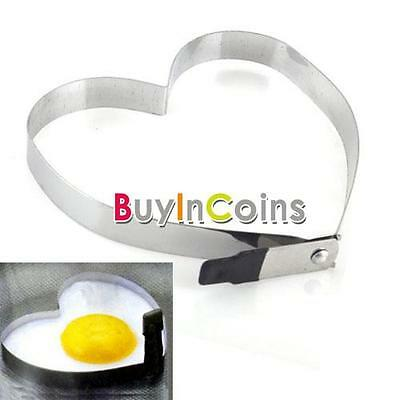 Kitchen Heart Love Shaped Cook Fried Egg Mold Pancake Stainless Steel Mould HK