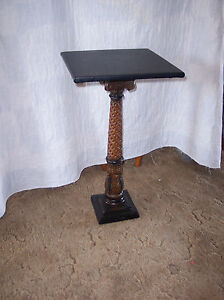 Ornate-Plant-Stand-with-Black-Vinyl-Top-PS7