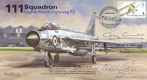 RAF-signed-cover-111-Sqn-English-Electric-Lightning-signed-BEE-CRUMBIE-AV600