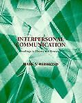 Interpersonal Communication by Mark V. Redmond (1994, Paperback)