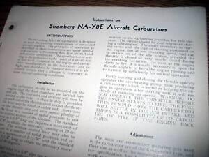 Stromberg-NA-Y8E-Carburetor-Install-Service-Overhaul-Manual