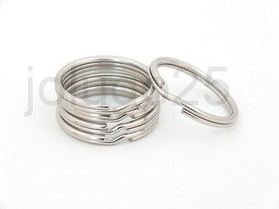 "50 3/4"" Key Rings Key Chains Split Rings Nickel Plated K1-50"