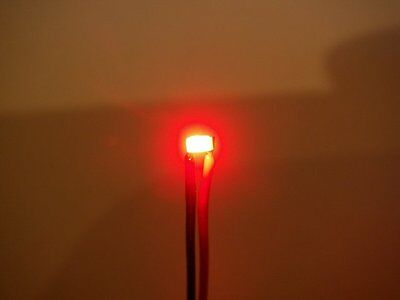 S412 - 10 Stück SMD LED 0603 rot mit Kabel LEDs für z.B. Autos PKW LKW Licht