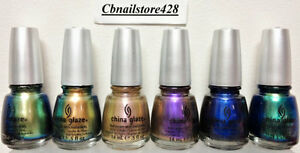 China-Glaze-Nail-Lacquer-BOHEMIAN-Collection-6-CHROME-Colors-Pick-Any-Color