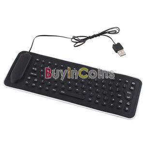 portable travel usb mini flexible silicone pc keyboard foldable ebay. Black Bedroom Furniture Sets. Home Design Ideas