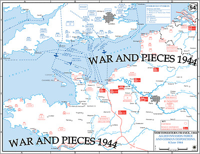 1:6 SCALE WW II WESTERN EUROPE MAP SET