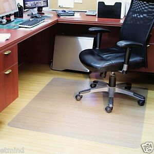 ES Robbins Office Home Rectangular Ultra Clear Chair Mat Hard Floor 46