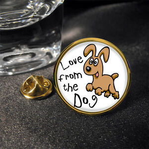 Liebe-aus-the-Dog-Reversnadel-Abzeichen-Geschenk