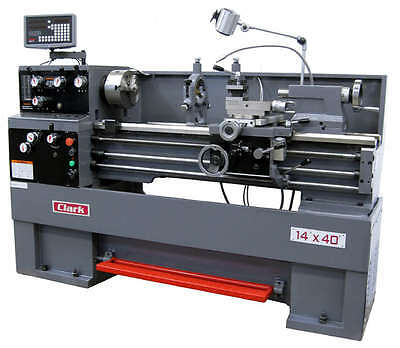 "CLARK 1440 14"" x 40"" Precision Gap-Bed Lathe with DRO - NEW!"