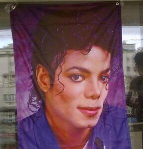 69x100cm michael jackson banner flag purple posters flag souvenirs