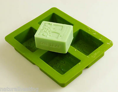 Tree Of Life 4 Cell Rectangular Silicone Soap Mould Mold Slice Makes 140g Bars