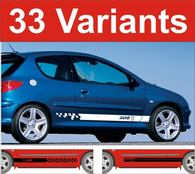 peugeot 206 side stripe decals stickers gti hdi etc choice of design 2 off