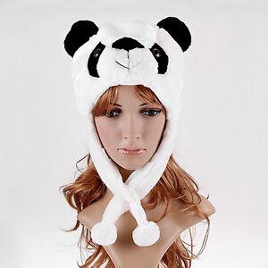 Cartoon-Animal-Panda-Fluffy-Plush-Hat-Cute-Cap-H1411W