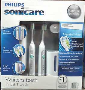 Philips-Sonicare-Toothbrush-2-Pack-Healthy-White-Platinum-Edition-HX6733-NIB