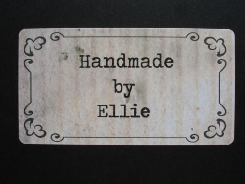 65 x Personalised Mini Stickers Vintage Frame Background Frame Handmade Labels