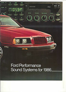 1986-FORD-CAR-TRUCKS-PERFORMANCE-SOUND-SYSTEMS-BROCHURE-MUSTANG-THUNDERBIRD-f150