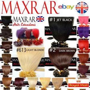 Pre-Bonded-Hair-Extensions-Nail-Tip-100-Remy-Human-18-Long-0-5-gram
