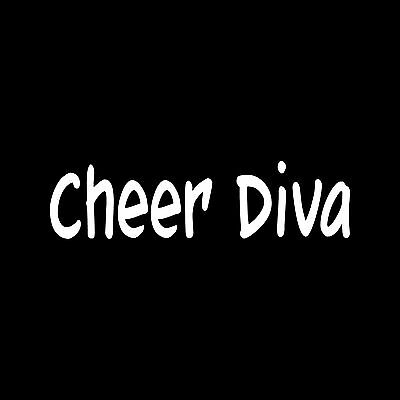 CHEER DIVA  Sticker Car Laptop Vinyl Decal wall decor kid teen  cheerleader cute