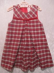 Gymboree Quot Holiday Friends Quot Pleated Red Plaid Jumper Dress