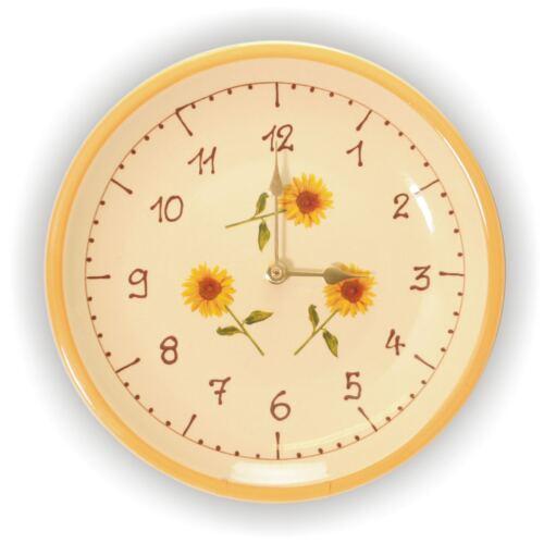 Wandteller Pünktliche Wanduhr aus Keramik Küchenuhr NEU Uhr 12 Varianten
